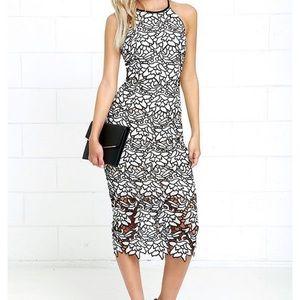 Keepsake True Love Lace Midi Dress